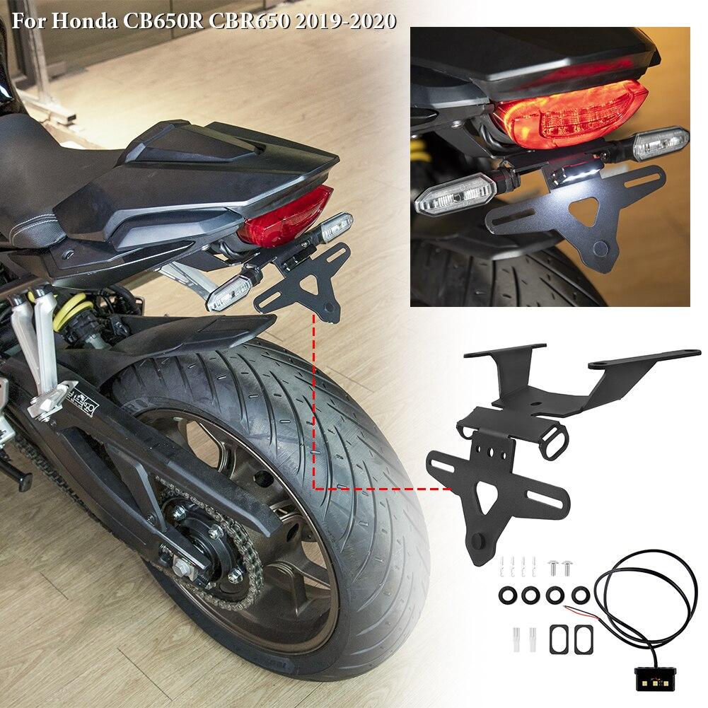 Motorcycle License Plate Holder Tail Light Bracket Tidy Fender Eliminator for 2019 2020 Honda CB650R CBR650 CBR 650R Accessories